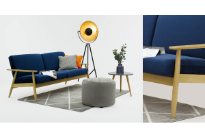 Sofas with wooden elements – recommended models
