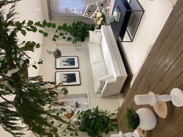 White Content sofa in modern interior