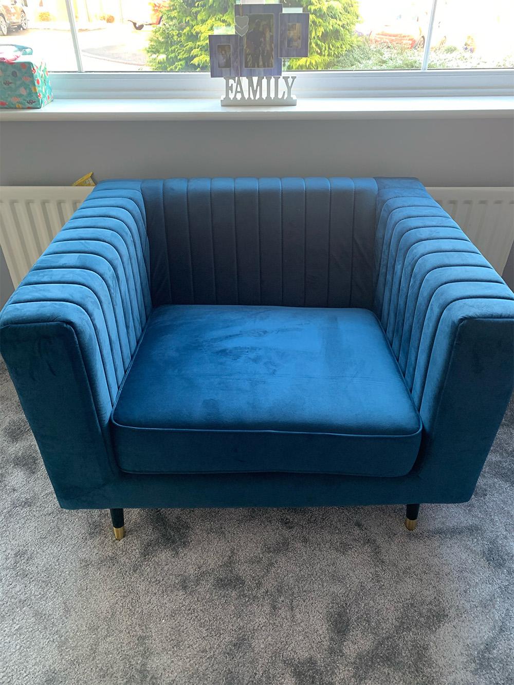 Navy blue Slender armchair