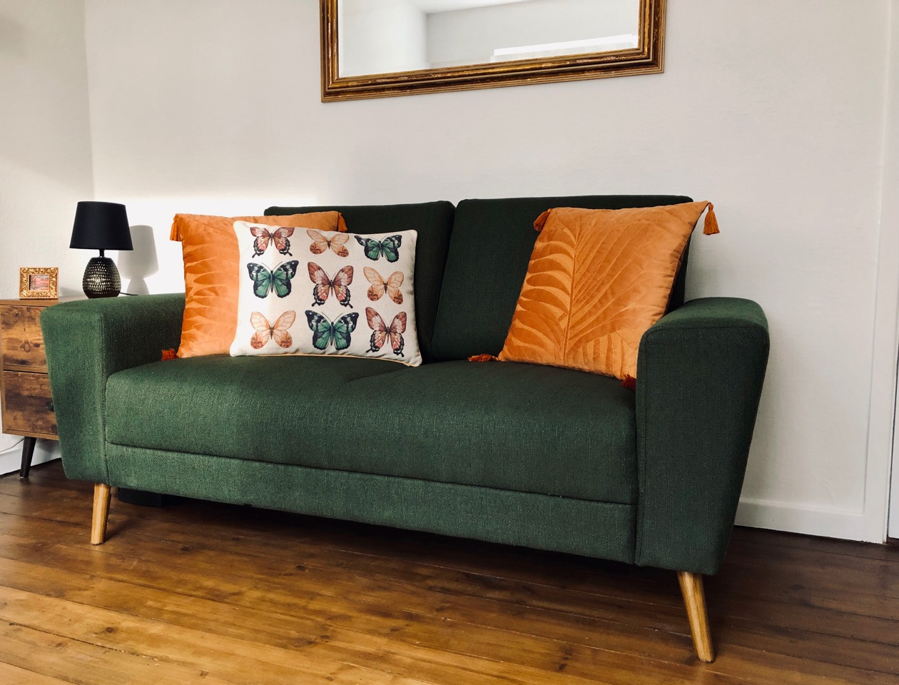 Green Cosy 2-seater sofa from Wendy
