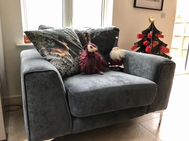 Gosena armchair on silver legs