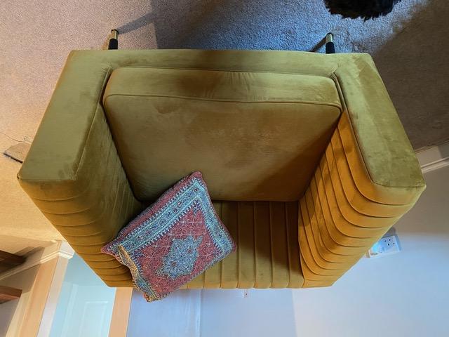Mustard stitched Slender armchair