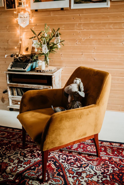Beca mustard armchair