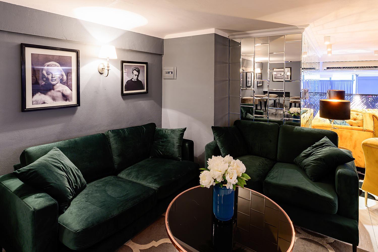 Dark green Covex sofas